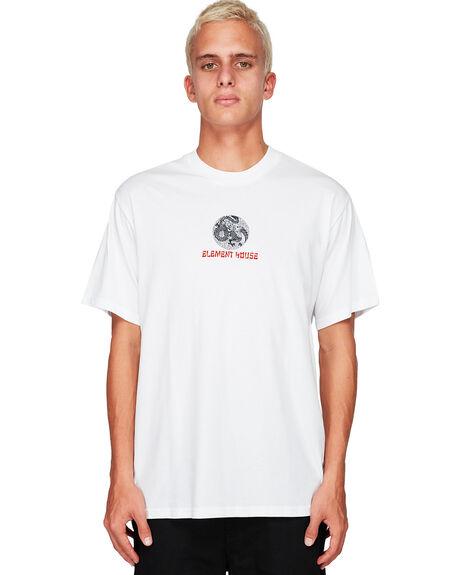 WHITE MENS CLOTHING ELEMENT TEES - EL-194019-WHT