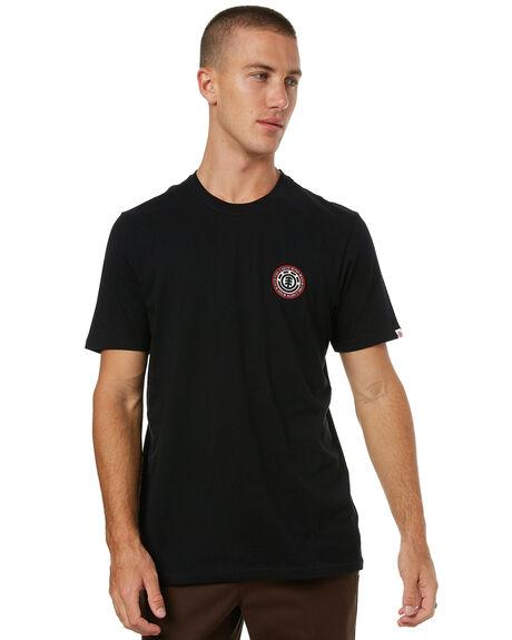 FLINT BLACK MENS CLOTHING ELEMENT TEES - 174005FBLK