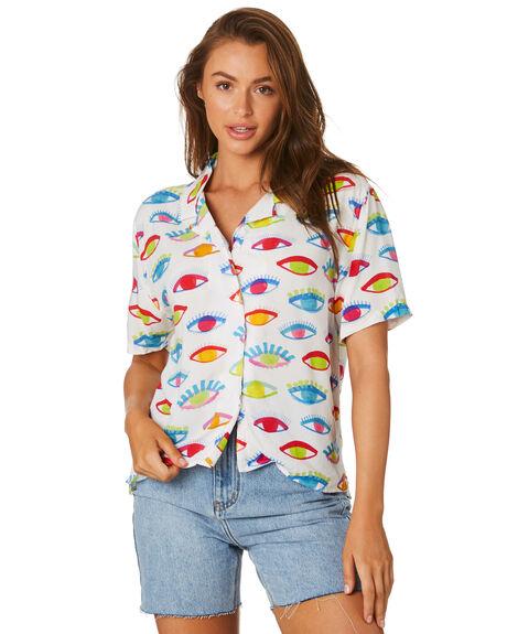 EYES PRINT WOMENS CLOTHING COOLS CLUB FASHION TOPS - 302-CW3EYES