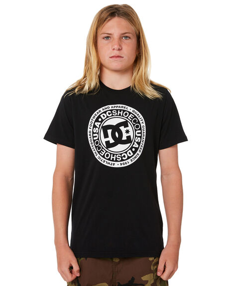 BLACK KIDS BOYS DC SHOES TOPS - UDBZT03189KVJ0