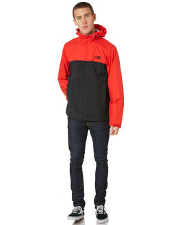BLACK RED MENS CLOTHING THE NORTH FACE JACKETS - NF0A2VD3C9U