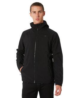 BLACK MENS CLOTHING HURLEY JACKETS - MFT000740000A