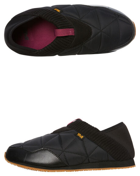 BLACK WOMENS FOOTWEAR TEVA SLIP ONS - T1018225BLK