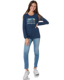 STONE BLUE KIDS GIRLS PATAGONIA TOPS - 62214FBSB