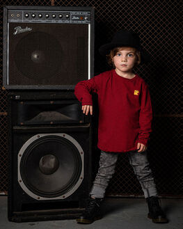 RED BLACK KIDS BOYS ROCK YOUR KID TOPS - TBT1972-ZRREDBK