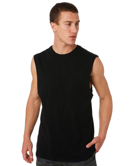 BLACK OUTLET MENS SWELL SINGLETS - S5164271BLK