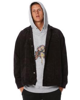 VINTAGE BLACK MENS CLOTHING RUSTY SHIRTS - WSM0821VBL