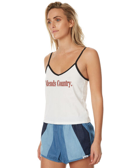 NATURAL WOMENS CLOTHING AFENDS SINGLETS - 50-06-020NATUR