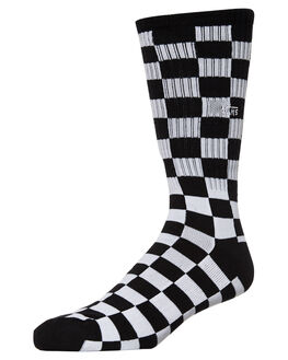BLACK WHITE CHECK MENS CLOTHING VANS SOCKS + UNDERWEAR - VNA3H3OHU0CHECK