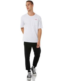WHITE MENS CLOTHING THRILLS TEES - TA8-143AWHT