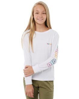 WHITE KIDS GIRLS RIP CURL TEES - JTEDB11000