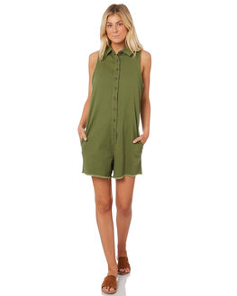 KHAKI WOMENS CLOTHING SWELL PLAYSUITS + OVERALLS - S8188452KHA
