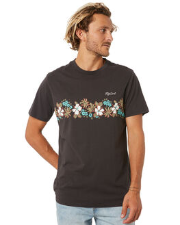 WASHED BLACK MENS CLOTHING RIP CURL TEES - CTEVG28264