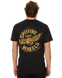 BLACK MENS CLOTHING SPITFIRE TEES - 51010155BBLK
