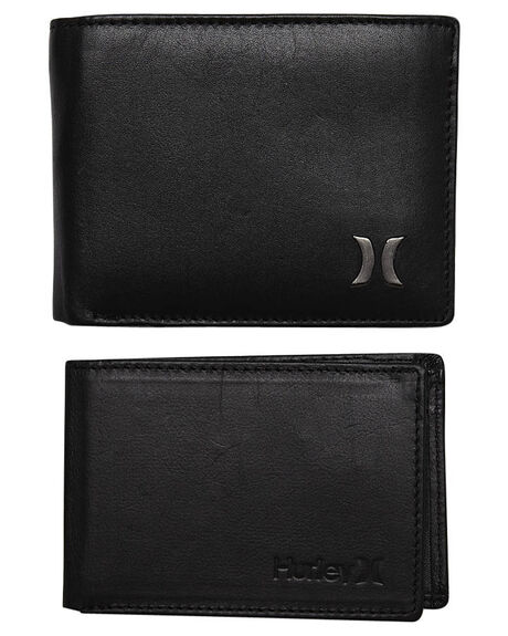 BLACK MENS ACCESSORIES HURLEY WALLETS - AMWATCNBLK