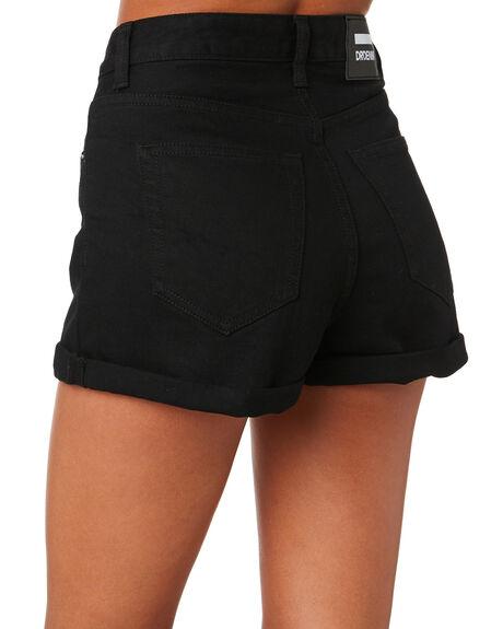BLACK WOMENS CLOTHING DR DENIM SHORTS - 1610103-101