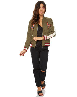 MILITARY WOMENS CLOTHING STUSSY JACKETS - ST176710MILT