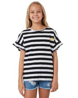 BLACK WHITE STRIPE KIDS GIRLS EVES SISTER TOPS - 9540036BKWHT