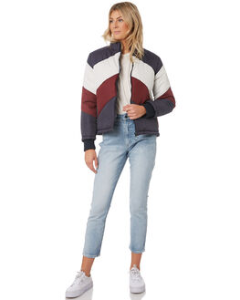 NAVY BERRY WOMENS CLOTHING THE FIFTH LABEL JACKETS - 40190446NVY