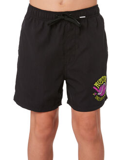 BLACK KIDS BOYS RIP CURL BOARDSHORTS - KBOVO20090