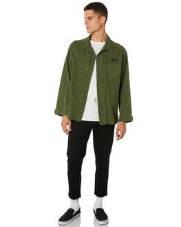 UTILITY GREEN MENS CLOTHING BANKS JACKETS - WJT0048UGR