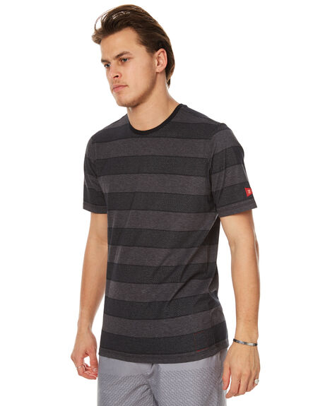 BLACK MENS CLOTHING HURLEY TEES - MKT000643000A