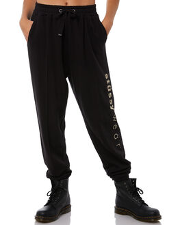 BLACK WOMENS CLOTHING STUSSY PANTS - ST181619BLK