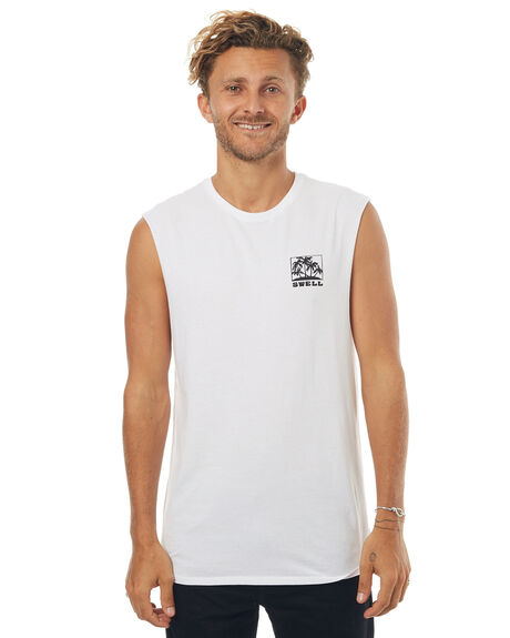 WHITE MENS CLOTHING SWELL SINGLETS - S5171271WHT