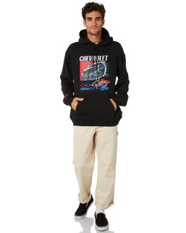 BEL AIR BLACK MENS CLOTHING BRIXTON JUMPERS - 02822BELBK