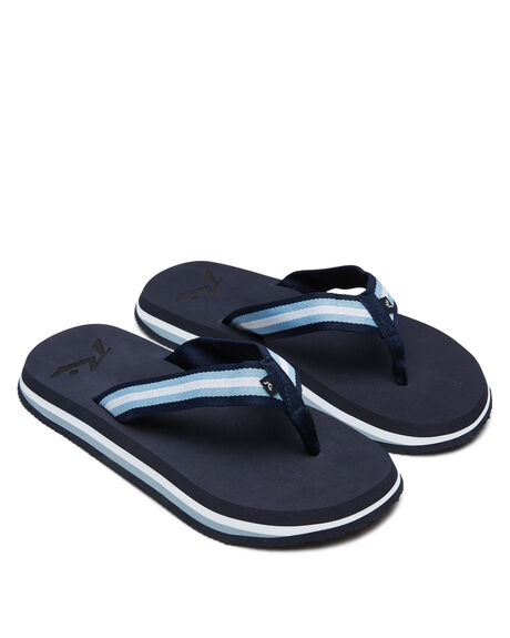 NAVY BLUE MENS FOOTWEAR RUSTY THONGS - FOM0349NVB