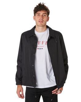 BLACK MENS CLOTHING HUFFER JACKETS - MRJA93S1401BLK