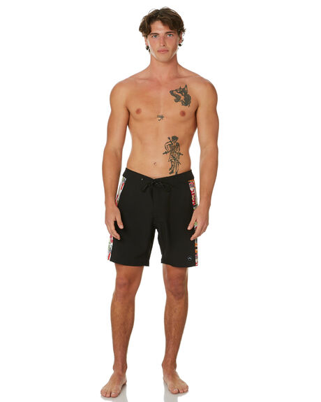 BLACK MENS CLOTHING RUSTY BOARDSHORTS - BSM1467BLK