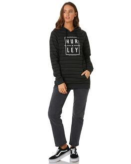 BLACK HEATHER WOMENS CLOTHING HURLEY JUMPERS - AGFLMOD10032