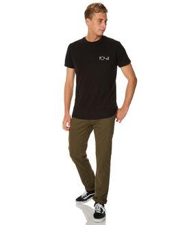 BLACK MENS CLOTHING POLAR SKATE CO. TEES - FILLBLK
