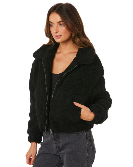 BLACK WOMENS CLOTHING ALL ABOUT EVE JACKETS - 6436030BLK