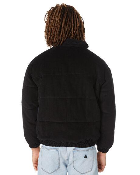 BLACK CORDUROY MENS CLOTHING BARNEY COOLS JACKETS - 501-0621BLKCD