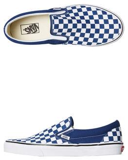 BLUE WOMENS FOOTWEAR VANS SLIP ONS - SSVNA38F7QCNBLUW