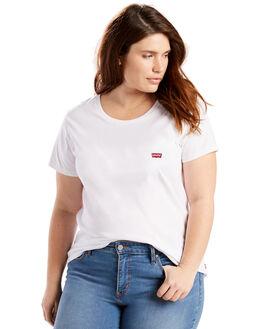 WHITE WOMENS CLOTHING LEVI'S TEES - C73478-0000