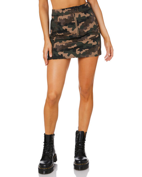 CAMO WOMENS CLOTHING JAGGER AND STONE SKIRTS - JS538-2CAM