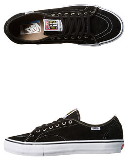 BLACK WHITE MENS FOOTWEAR VANS SKATE SHOES - VN-08C2Y28BLK