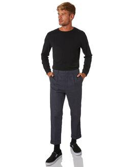 BLACK MENS CLOTHING RVCA TEES - R193106BLK