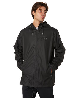 BLACK MENS CLOTHING RPM JACKETS - 9AMT21ABLK