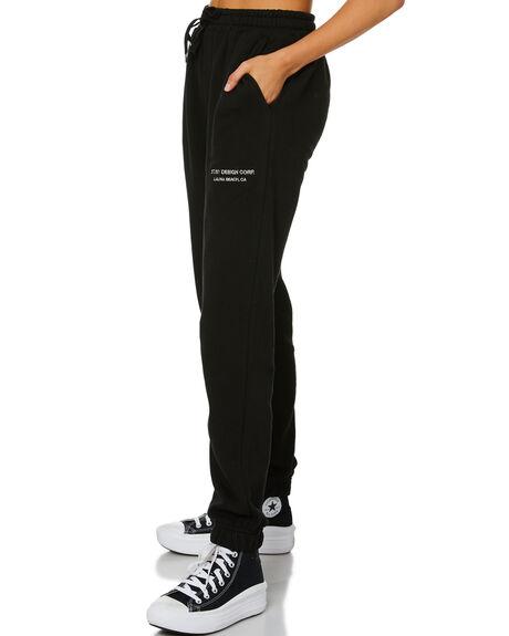 BLACK WOMENS CLOTHING STUSSY PANTS - ST116600BLK