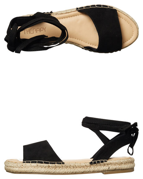 BLACK WOMENS FOOTWEAR THERAPY FASHION SANDALS - ED2817BLK