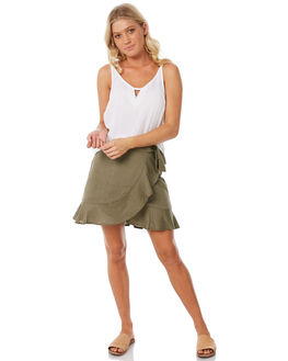 OLIVE WOMENS CLOTHING ELWOOD SKIRTS - W83614OLI