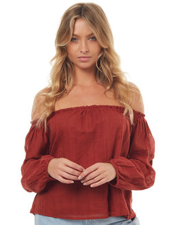RUST WOMENS CLOTHING ALL ABOUT EVE FASHION TOPS - 6401062COPP
