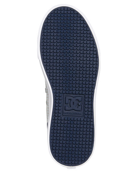 NAVY GREY KIDS BOYS DC SHOES SKATE SHOES - ADBS300315NGY