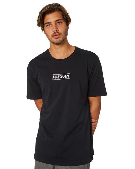 BLACK MENS CLOTHING HURLEY TEES - AJW0002010
