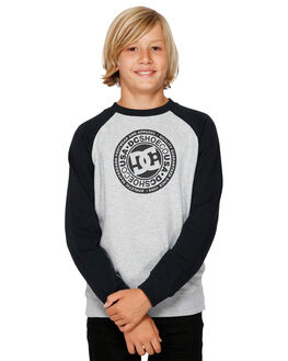 BLACK / HEATHER GREY KIDS BOYS DC SHOES JUMPERS + JACKETS - EDBSF03096-XKKK