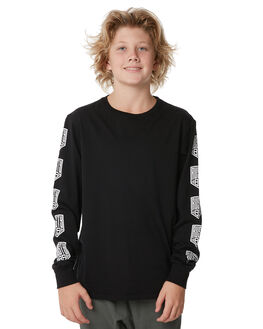 BLACK KIDS BOYS RUSTY TEES - TTB0579BLK